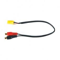 Cable auxiliar audio Mini ISO Amarillo - RCA | ALFA ROMEO | FIAT | LANCIA |