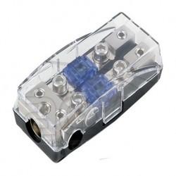 Distribuidor porta fusible 1 entr. 35mm + 2 de 20mm y 2 sal. 16mm-10mm Mini ANL