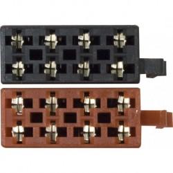 Conector Universal ISO macho terminales hembra 2 piezas